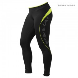 BB Fitness Long Tights - Black Lime
