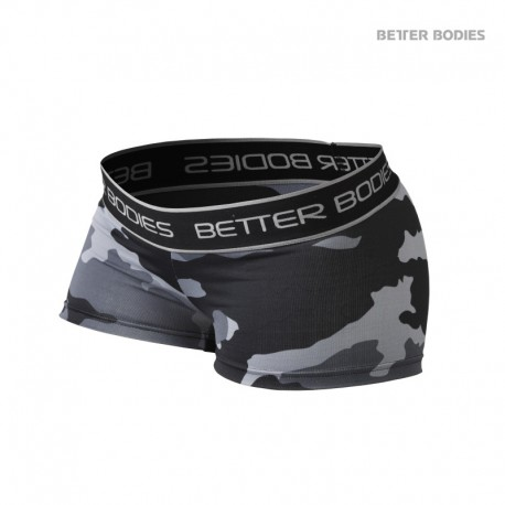 BB Fitness Hotpant - Grey Camo Print