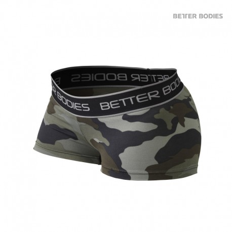 BB Fitness Hotpant - Green Camo Print