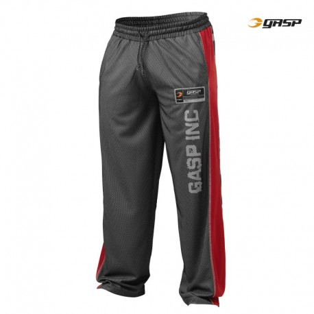 Gasp No1 Mesh Pant - Black Red