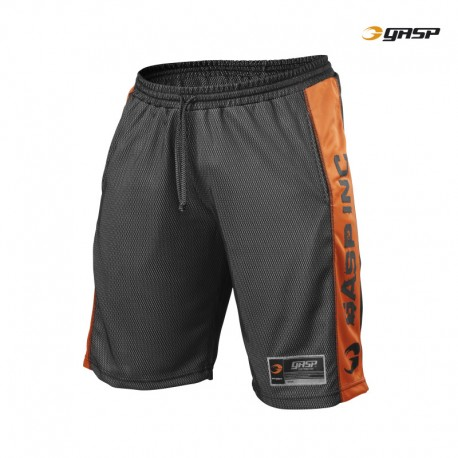 Gasp No1 Mesh Shorts - Black Flame