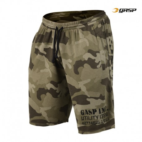 Gasp Thermal Shorts - Green Camoprint