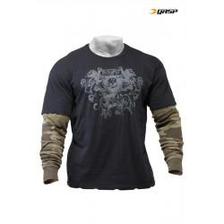 Gasp Arm LS 2in1 - Black Camoprint