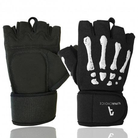 Skeleton Gloves - Black & White